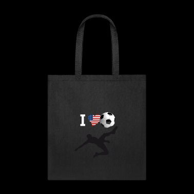 i Love Soccer America Ball goal Club Sport - Tote Bag