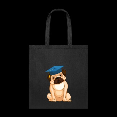 Pug Graduation Cap - Tote Bag