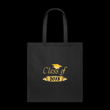 Gold Class of 2018 Graduation Gift Shirt - Tote Bag