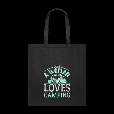 Just A Woman Who Loves Camping Camper Gift - Tote Bag