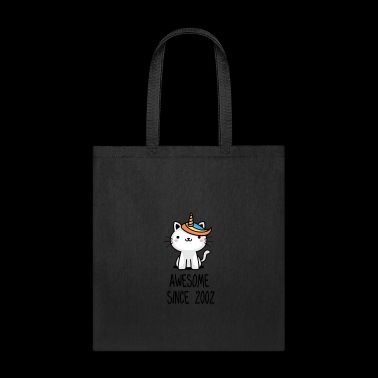 Caticorn Awesome Since 2002 16th birthday gift - Tote Bag
