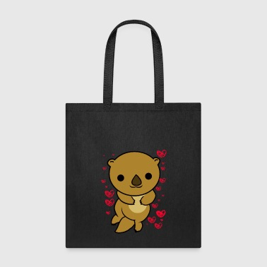 Otter Love T-Shirt Valentine's Day Cute Hearts - Tote Bag