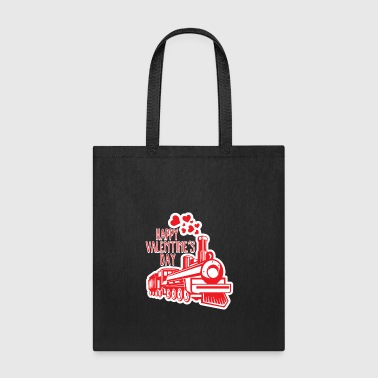 Valentines Day Train Smoke Hearts Romantic Holiday - Tote Bag