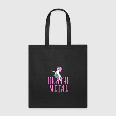 Death Metal Unicorn Rainbow Shirt Heavy Metal Gift - Tote Bag
