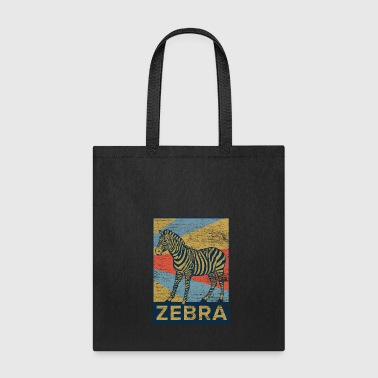 Zebra rectangle color - Tote Bag