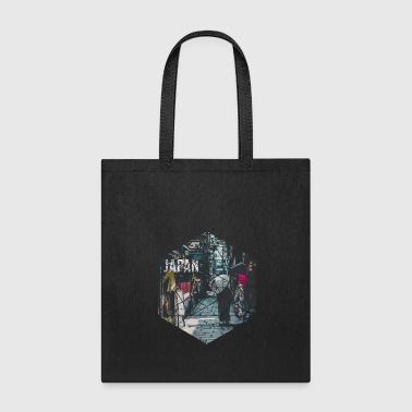 Vintage Geometric Streets of Japan Travel - Tote Bag