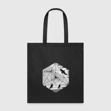 Be Different. Flying Raven Inspirational Hexagon - Tote Bag