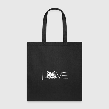 Love Drums Drummer Gift - Tote Bag