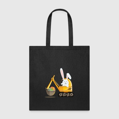 Easter Bunny Excavator with Decorated Eggs - Tote Bag