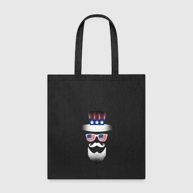 USA Flag Hat and Glasses - Tote Bag