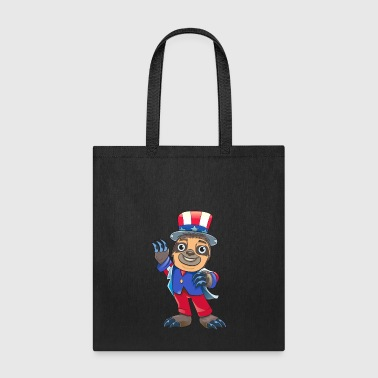 Sloth July Of 4th - Tote Bag