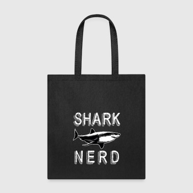 Shark Nerd Funny Water Animal Lover Humor Graphic - Tote Bag