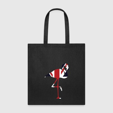 Union Jack Flamingo Funny Great Britain National - Tote Bag