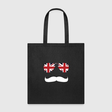 British Flag Sunglasses & Mustache National UK - Tote Bag