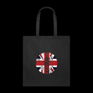 Union Jack Big Ben Westminster Palace Distressed - Tote Bag