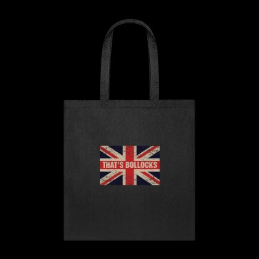 That's bollocks On Britain Flag Funny UK English - Tote Bag