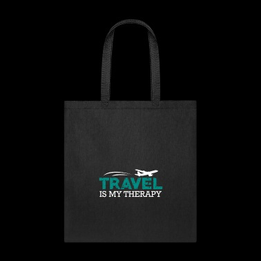 Travel is my Therapy Shirt Gift - Tote Bag