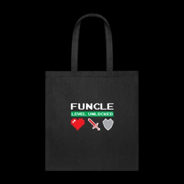 Funcle Level Unlocked Heart Sword Shield Fun Uncle - Tote Bag