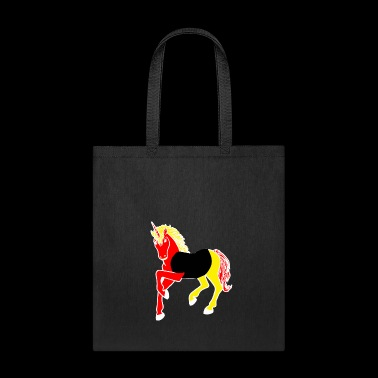 unicorn in national flag germany gift - Tote Bag