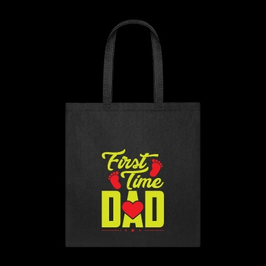 First Time Dad Footsteps - Tote Bag