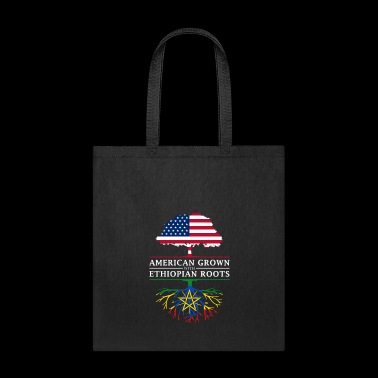 American Grown with Ethiopian Roots Ethiopia Design - Tote Bag