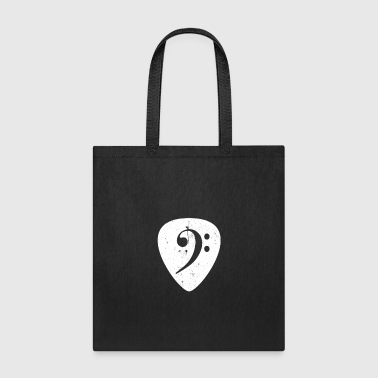 Bass Guitar Pick Shirt Bass Clef Shirt Bass Player Shirt - Tote Bag