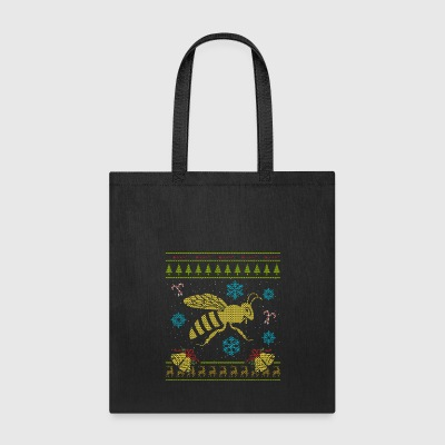 Honey Bee Christmas Sweater Shirt Bee Keeper Shirt - Tote Bag