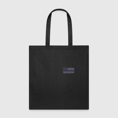 Pocket Thin Blue line Flag - Tote Bag