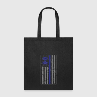 State Trooper Thin Blue Line Flag - Tote Bag
