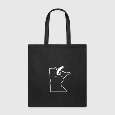 Big Catfish Jumping Minnesota Freshwater Catfish - Tote Bag