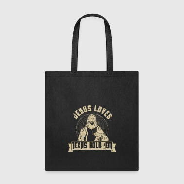 Jesus Loves Texas Hold Em Card Game Poker Cigar Novelty - Tote Bag