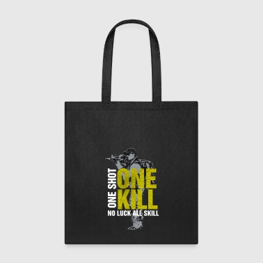 One Shot One Kill No Luck All Skill Yellow 2 - Tote Bag