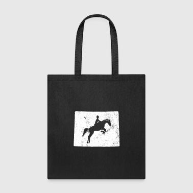 Wyoming Horse Jumping Shirt Equestrian Gifts Riding Shirt - Tote Bag