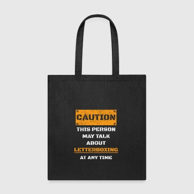 CAUTION WARNUNG TALK ABOUT HOBBY Letterboxing - Tote Bag