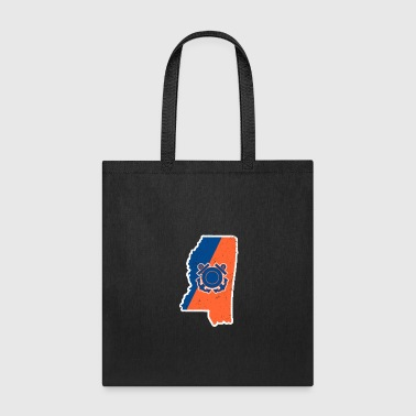 Coast Guard Mississippi Coast Guard Auxiliary Shirt - Tote Bag