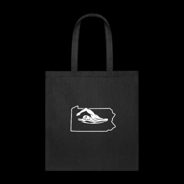 Swimming Shirt Pennsylvania Swim Team Shirt - Tote Bag