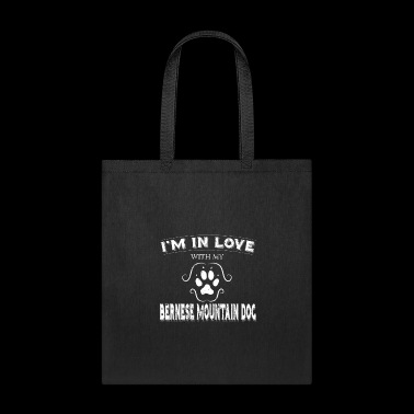 Valintines Shirt Gift Love My Bernese Mountain Dog - Tote Bag