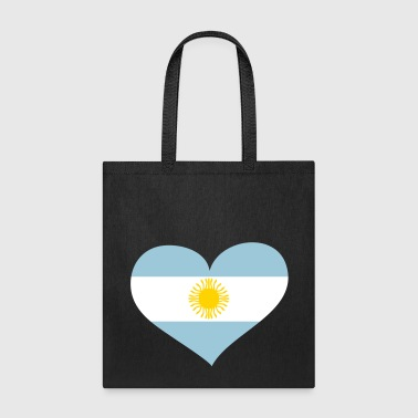 Argentina Heart; Love Argentina - Tote Bag