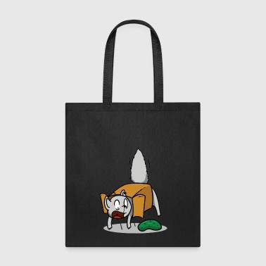 Funny Cat In Box And Pickle. - Tote Bag