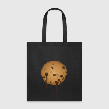 Chocolate cookie with chocolate running down - Tote Bag