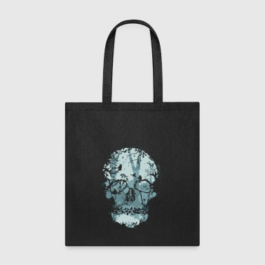 Dark Forest Skull - Tote Bag