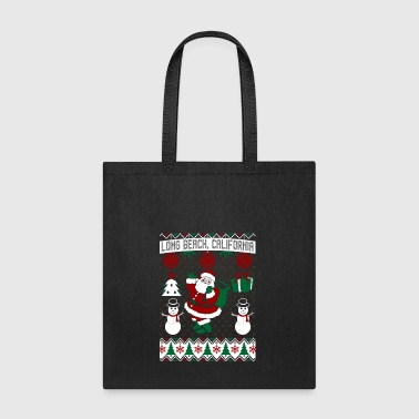 Christmas Ugly Sweater Long Beach California - Tote Bag