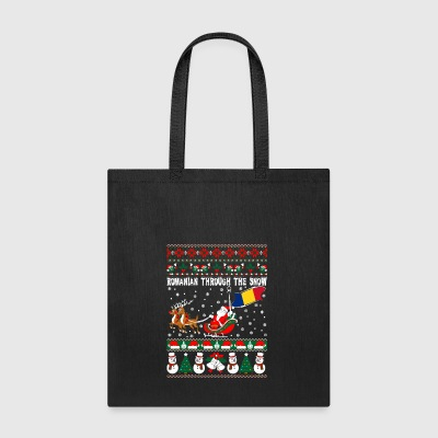 Romanian Through The Snow Ugly Christmas Sweater - Tote Bag