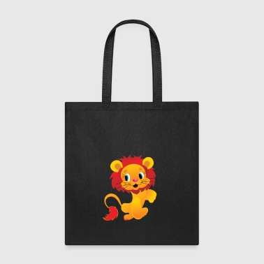 isolated lion - Tote Bag