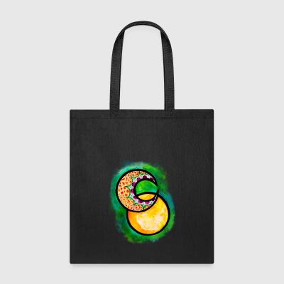 Sun and Moon Watercolor Graphic Design - Tote Bag