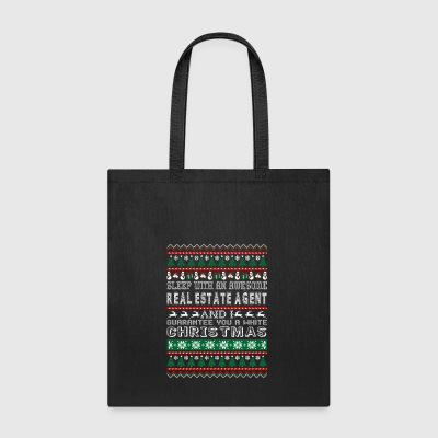 Sleep Awesome Real Estate Agent White Christmas - Tote Bag