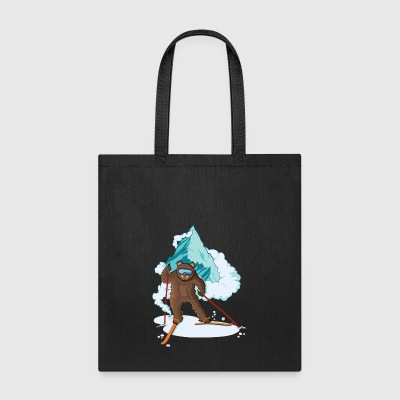 Skiing Bear - Tote Bag