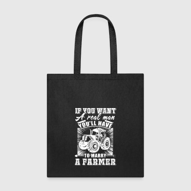 To marry a Farmer T Shirts - Tote Bag