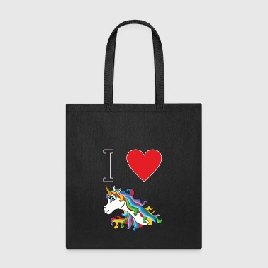 I love cute colourful sweet unicorn - Tote Bag