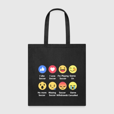I Love Soccer Emotion Shirt - Tote Bag
